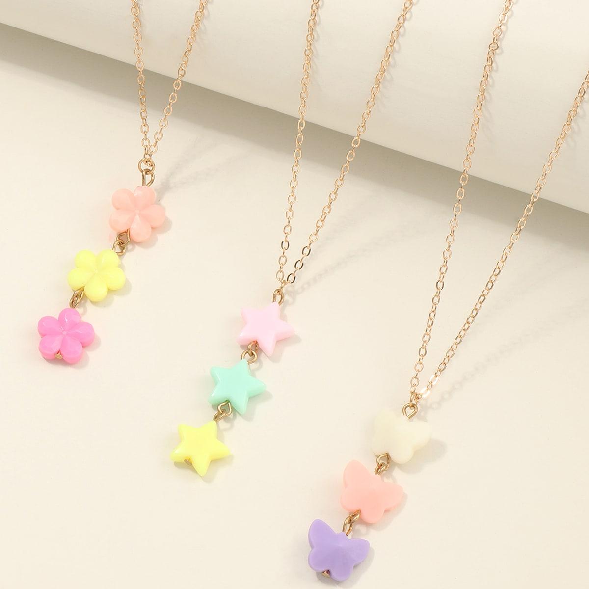 SHEIN / 3 Stücke Halskette mit Stern Anhänger