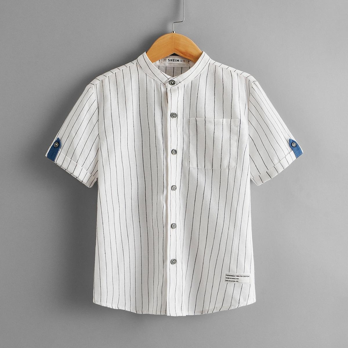 Рубашка в полоску для мальчиков фото