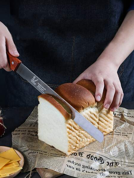 1pc Stainless Steel Bread Knife