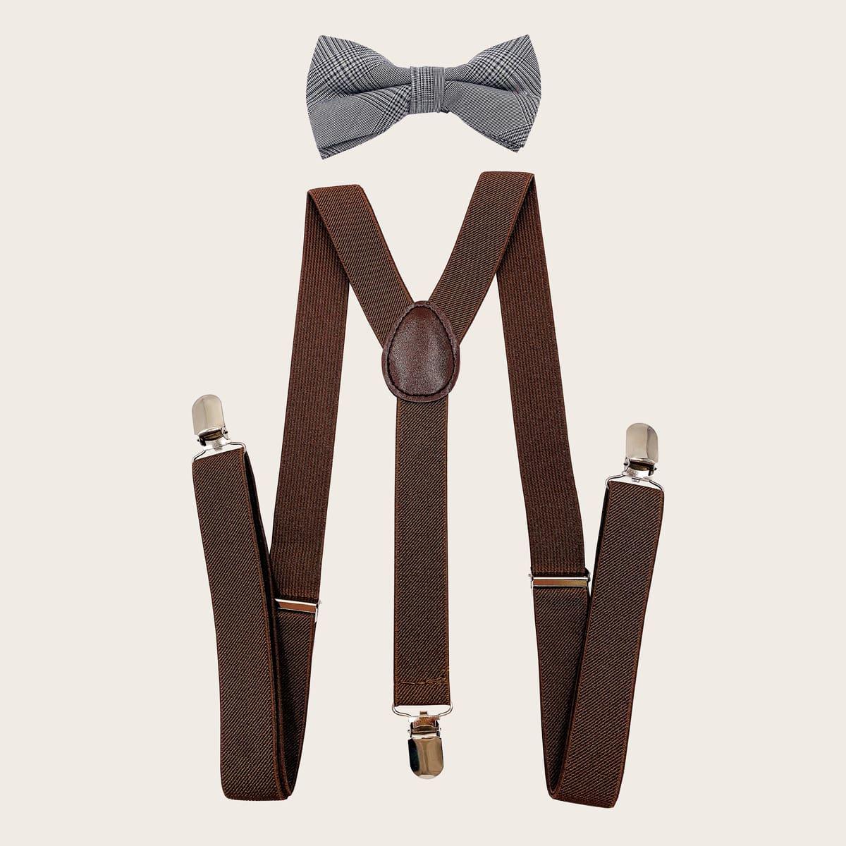 Мужские подтяжки и галстук-бант от SHEIN