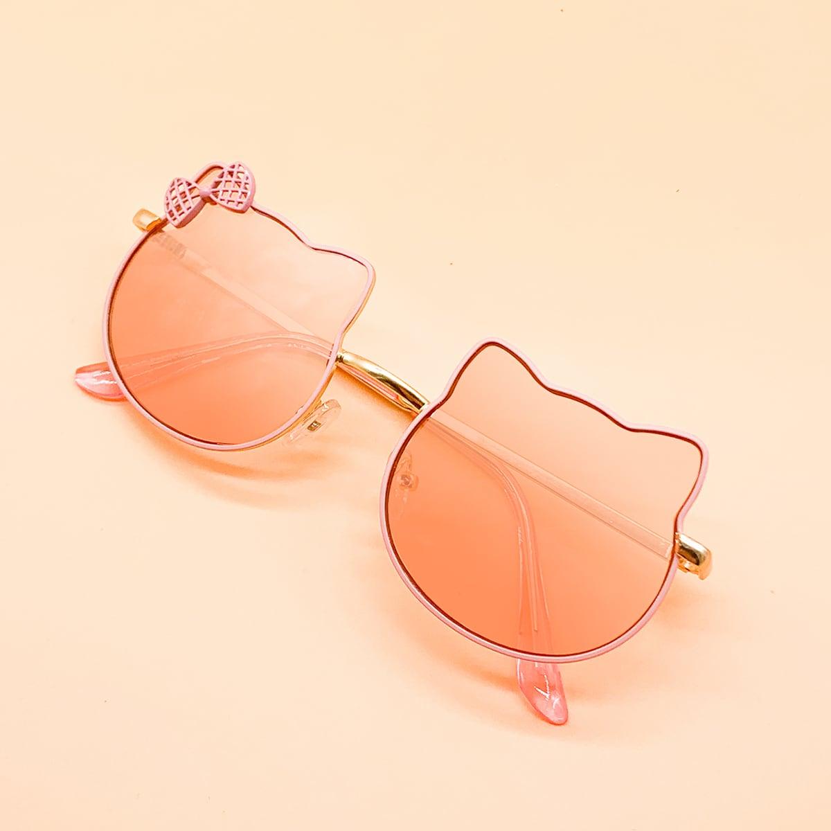 Детские солнечные очки с бантом фото
