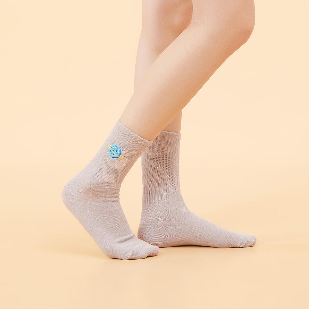 Носки с вышивкой фото