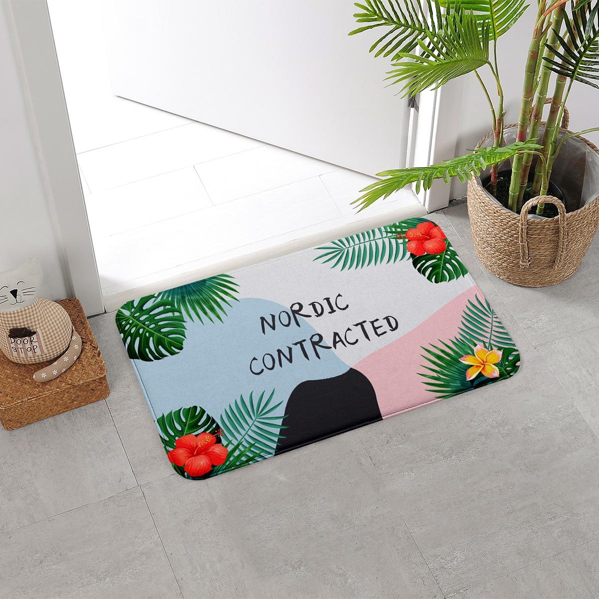 Коврик с цветочным принтом фото