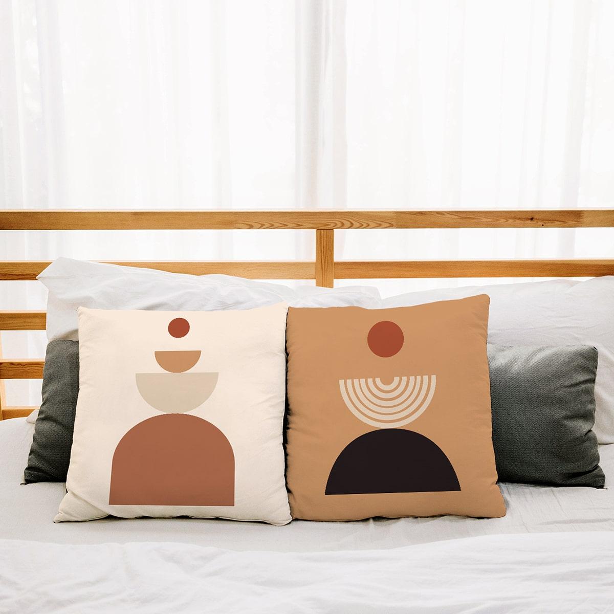 1шт Чехол для подушки с графическим принтом без наполнителя фото