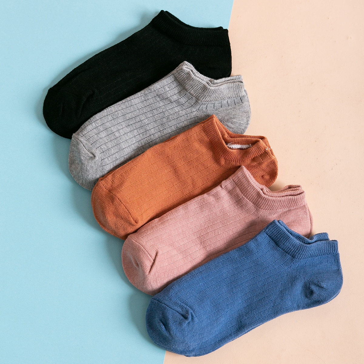5 пар однотонные носки фото