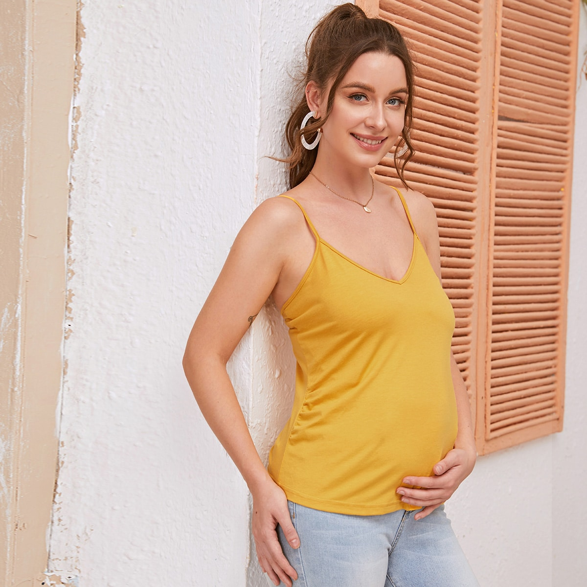 Однотонный топ для беременных фото
