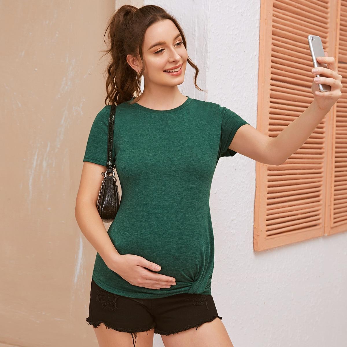 Футболка для беременных с драпировкой фото
