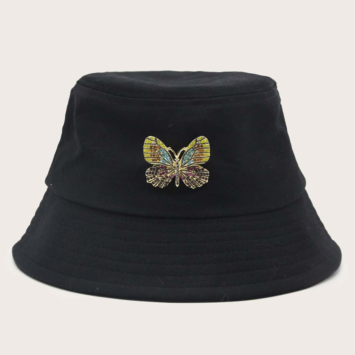 Шляпа с узором бабочки фото