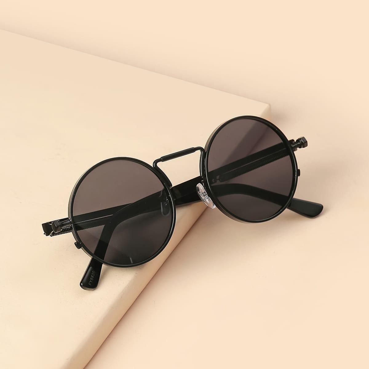 Мужские круглые солнечные очки фото