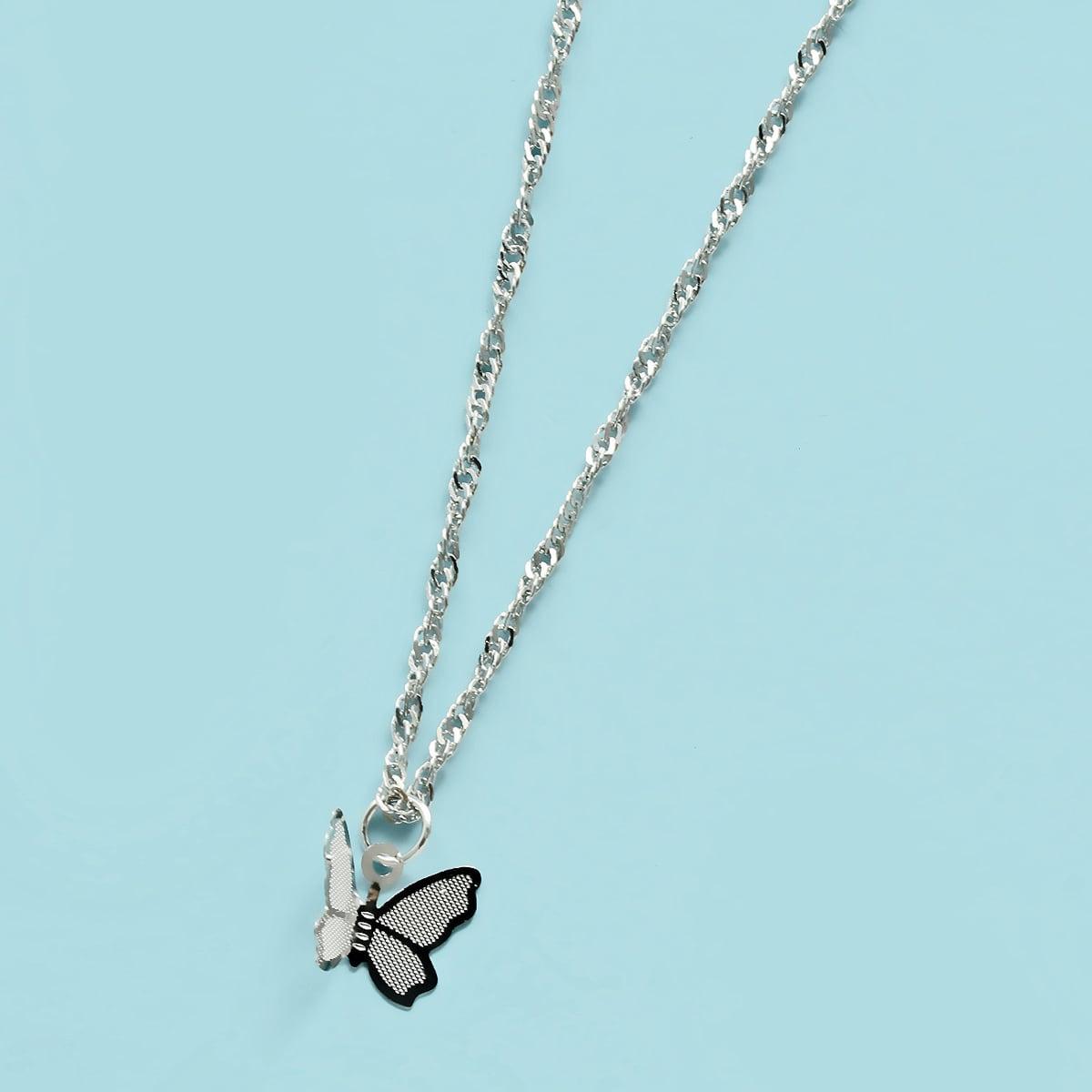 Ожерелье с бабочкой для девочек фото