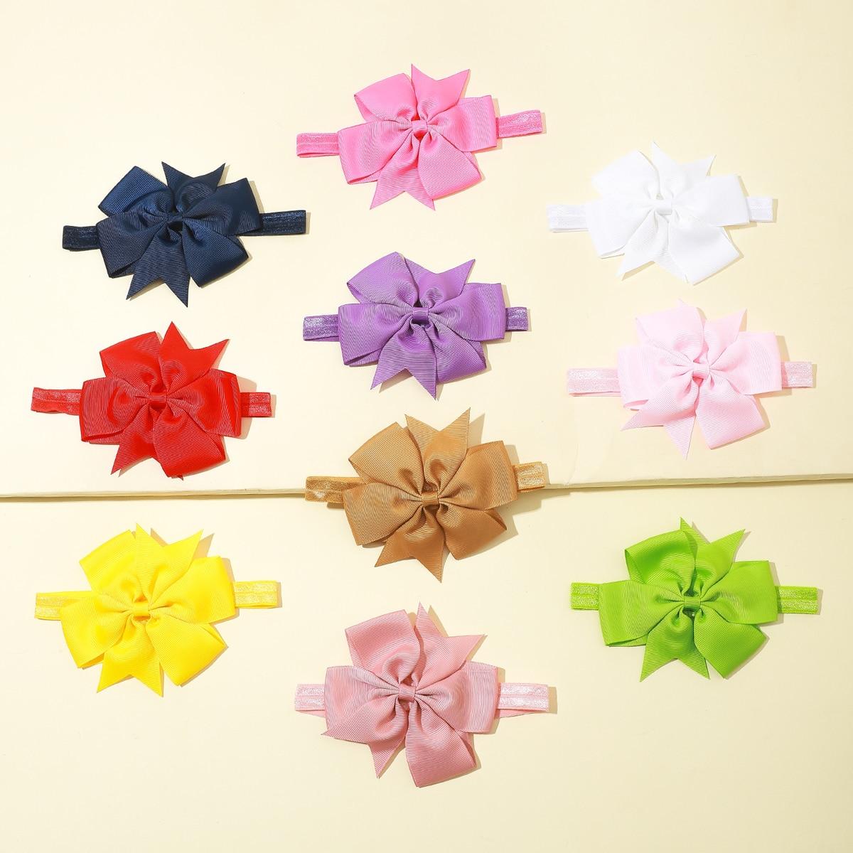 10шт повязка на голову с декором цветка для девочек фото