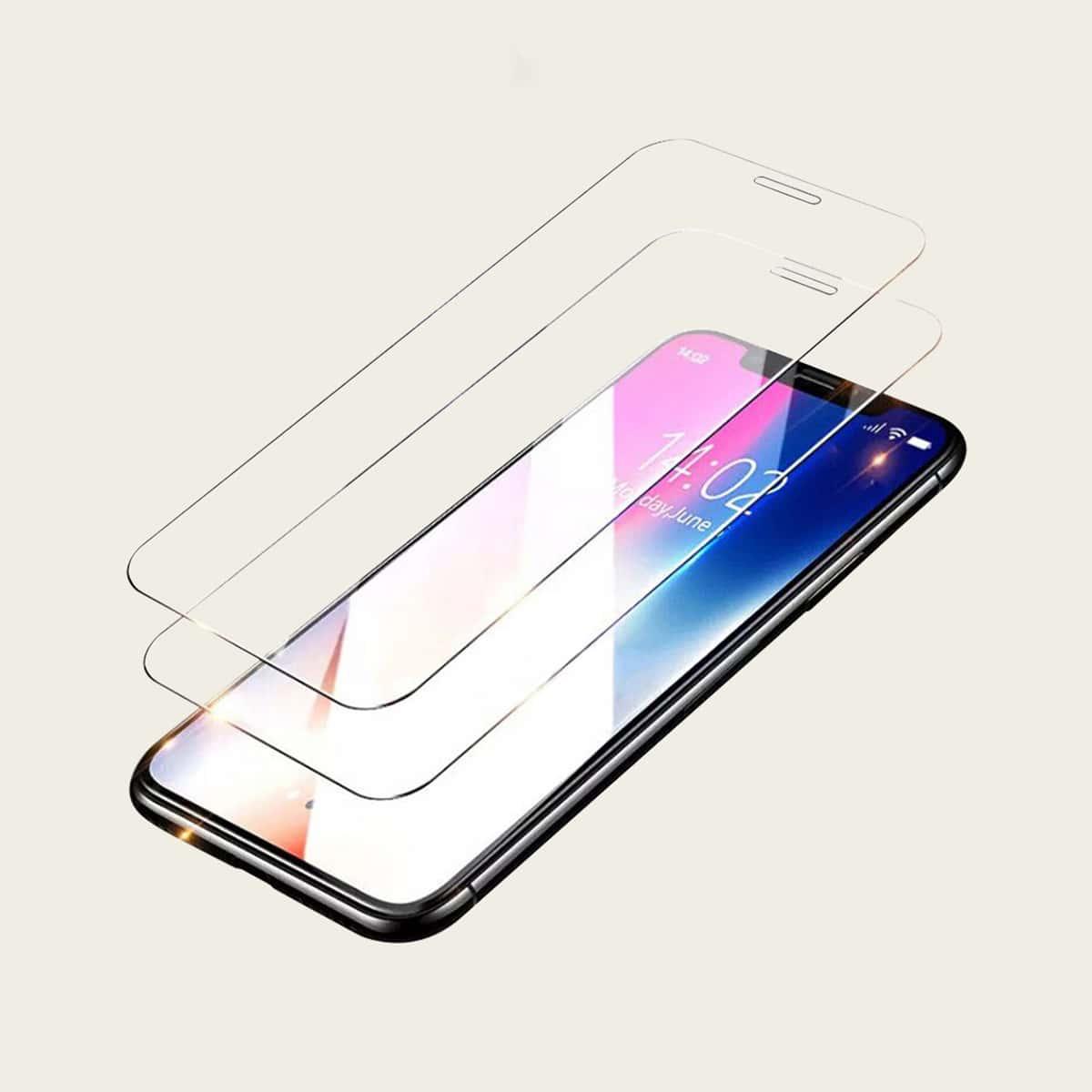 2шт защитная пленка для iPhone из закаленного стекла фото