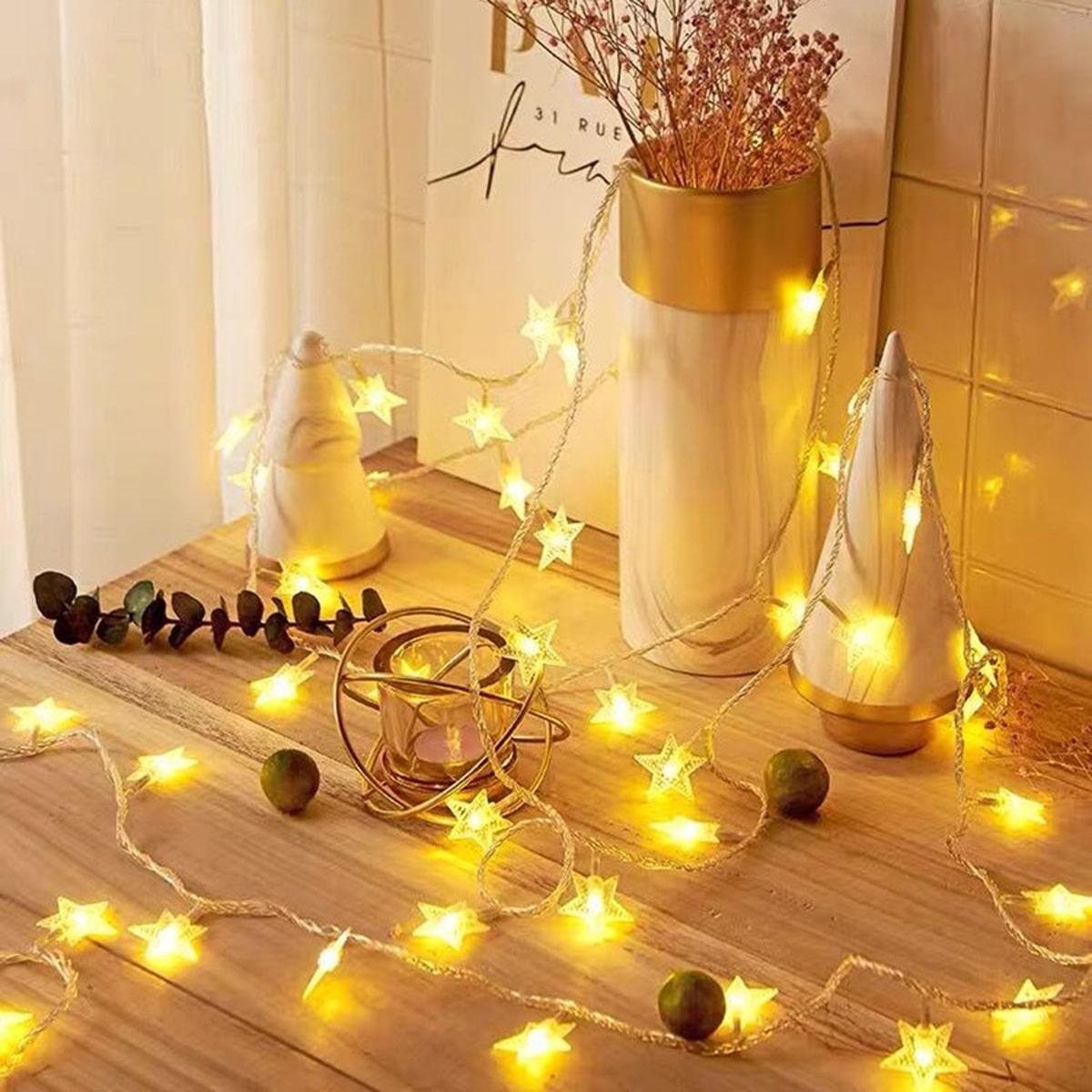 20шт ламп лампочная гирлянда в форме звезды