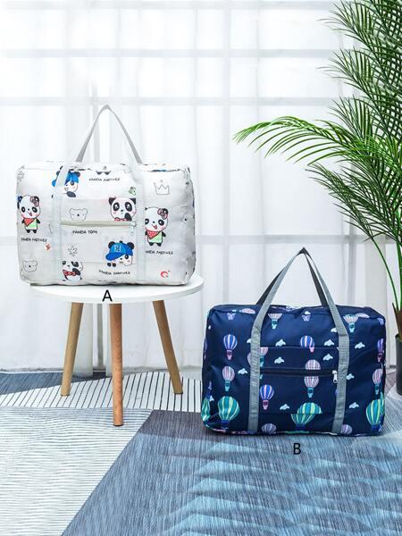 1pc Mixed Pattern Travel Storage Bag