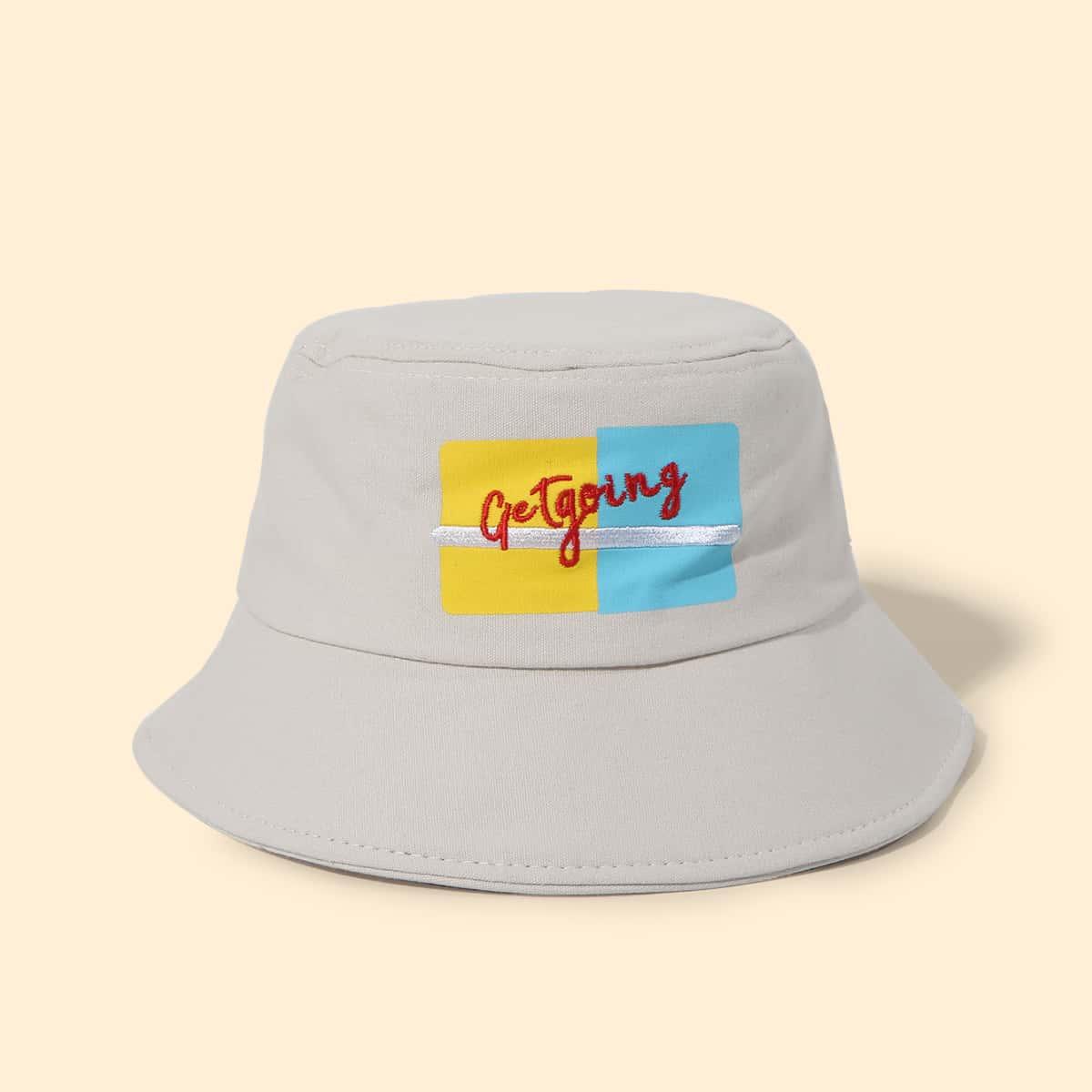 Шляпа с текстовой вышивкой фото