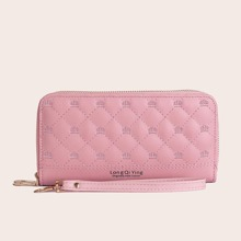 Zip Around Quilted Purse (swbag18200617187) photo