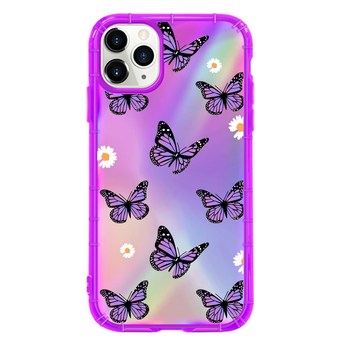 2шт прозрачный чехол для iPhone и лазерная пленка с принтом бабочки фото
