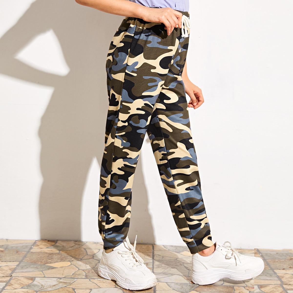 SHEIN / Jogginghose mit Taillenband und Camo Muster