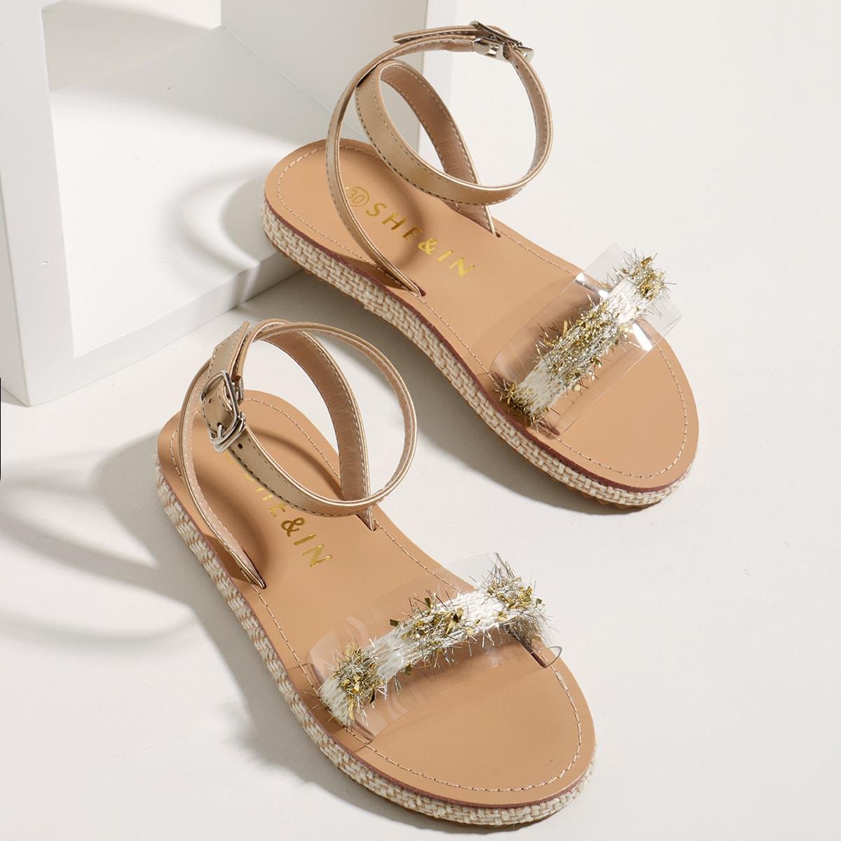 Прозрачные сандалии для девочек фото