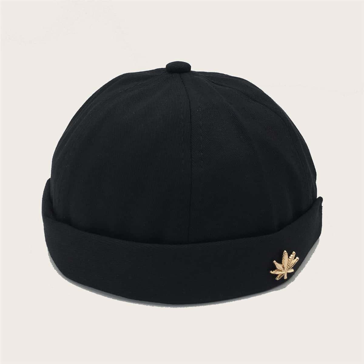 Мужская шляпа с декором листа от SHEIN