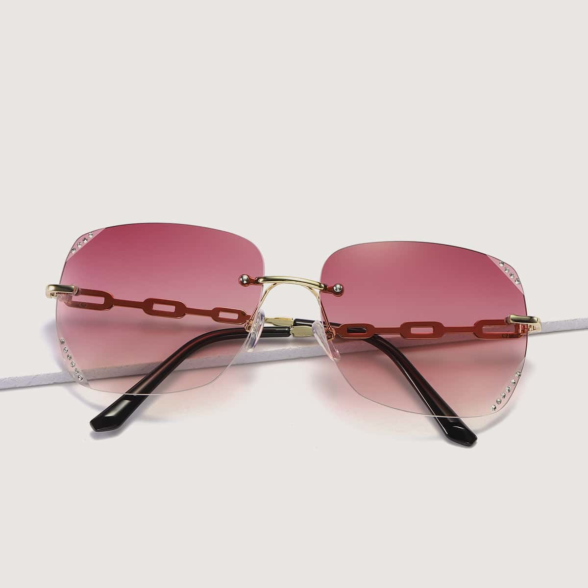 Солнечные очки без оправы фото