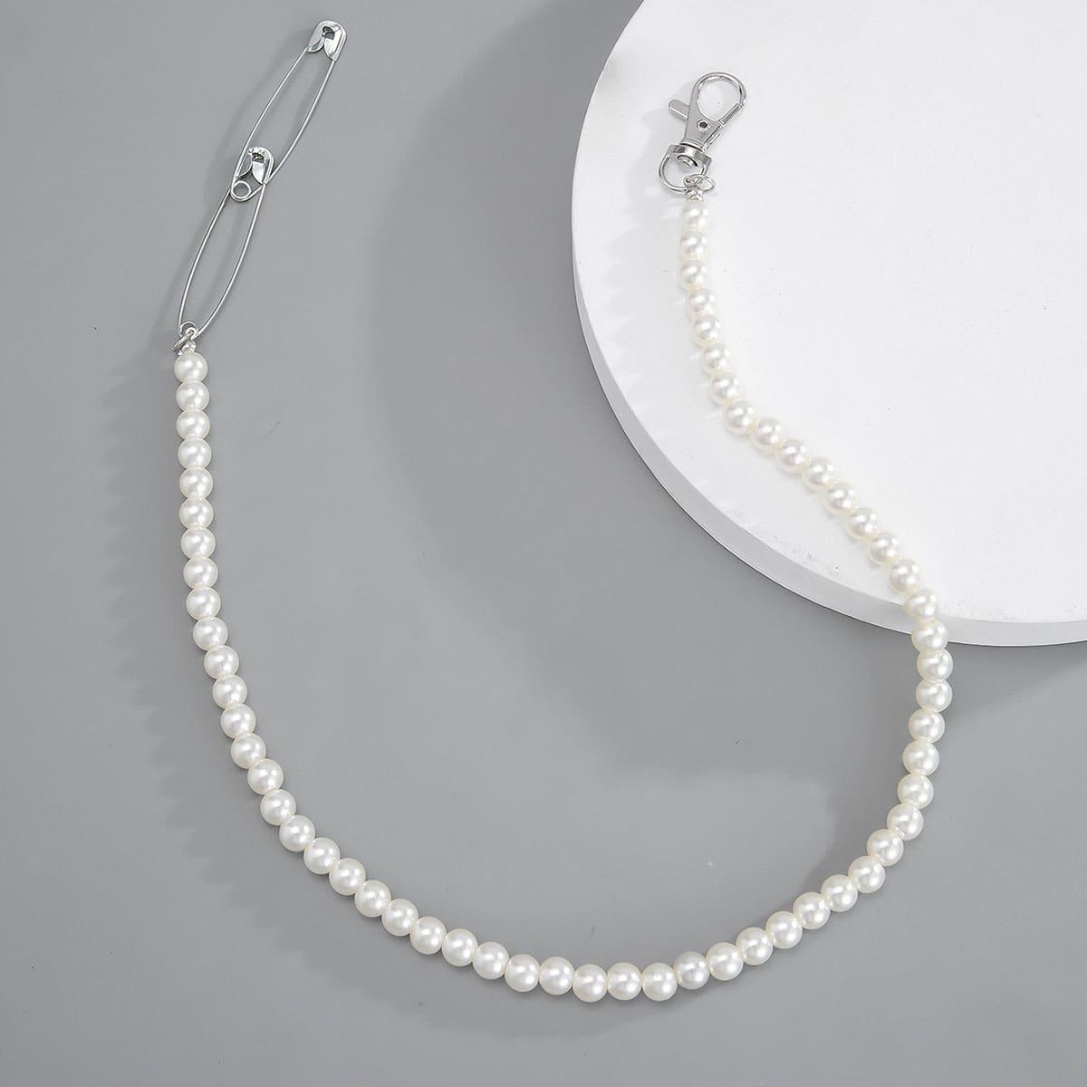 Мужское ожерелье с искусственным жемчугом от SHEIN