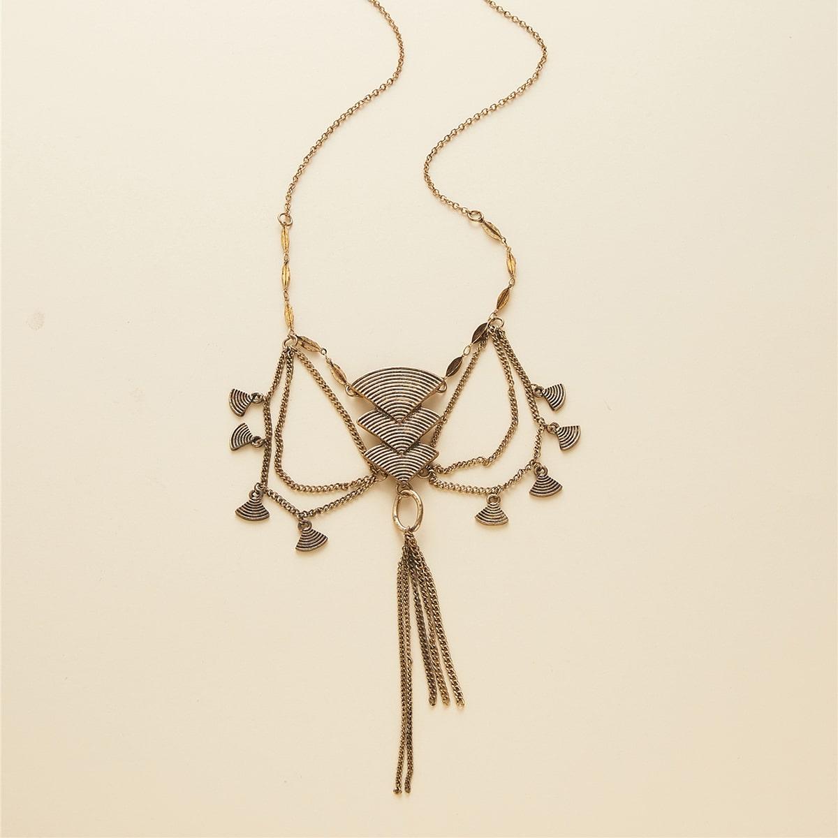 Ожерелье с бахромой фото
