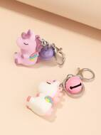 2pcs Unicorn Charm Keychain