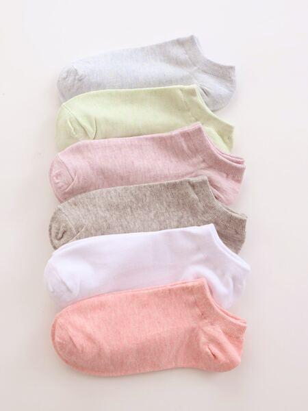 6pairs Simple Ankle Socks