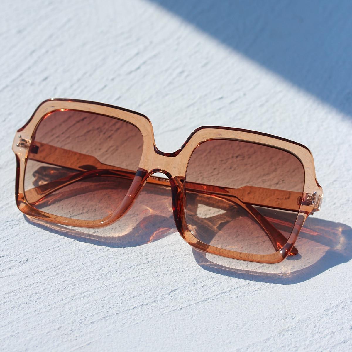 Квадратные солнечные очки в акриловой оправе фото