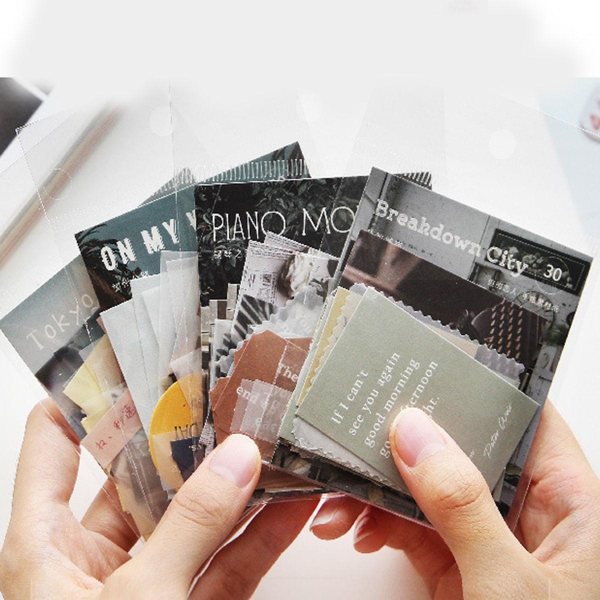 Бумага с текстовым принтом 30 листов фото