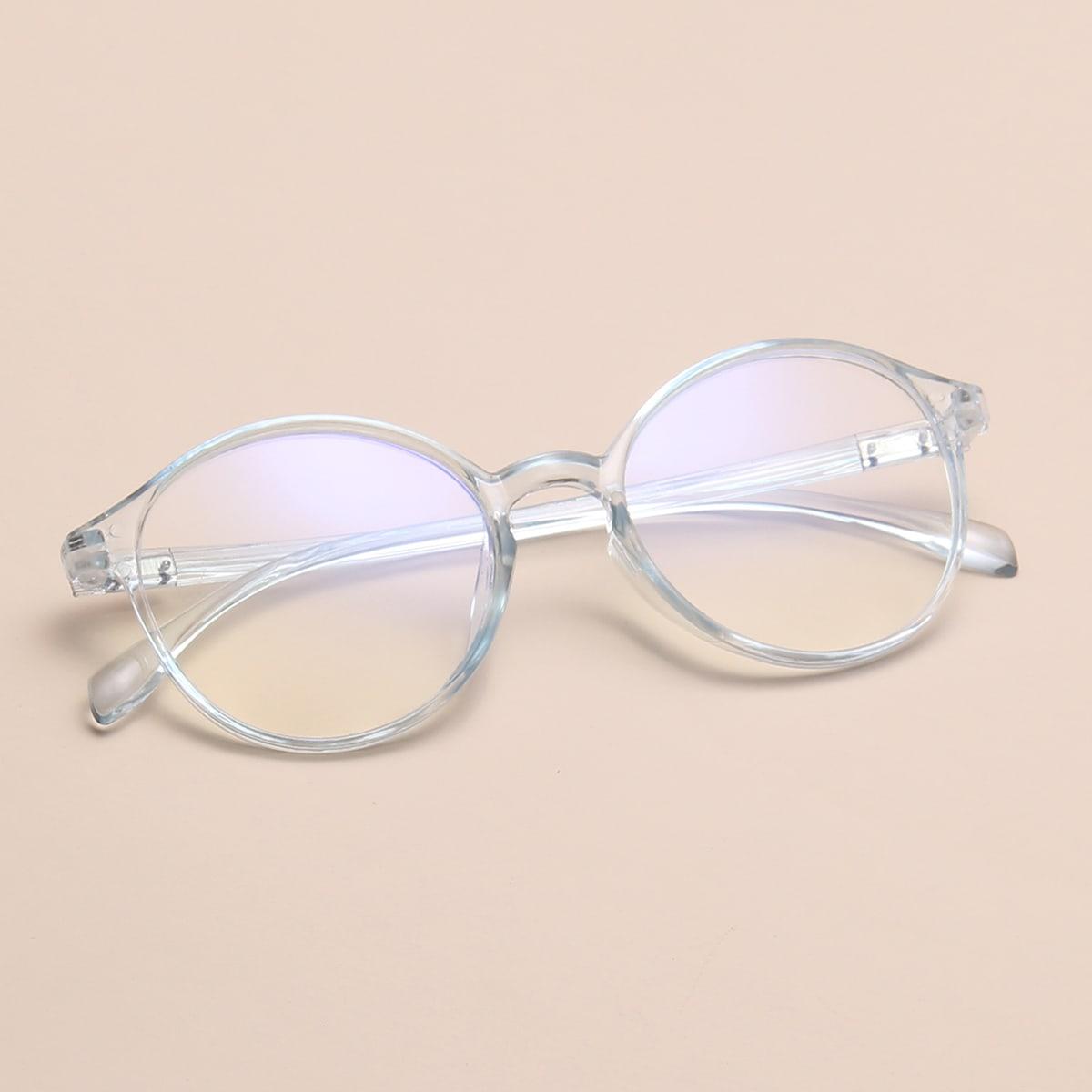 Очки с прозрачной оправой фото