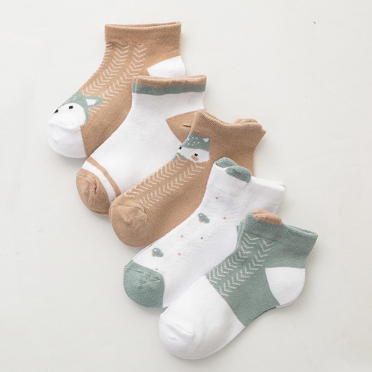 5 пар носки с мултяшным принтом для мальчиков фото