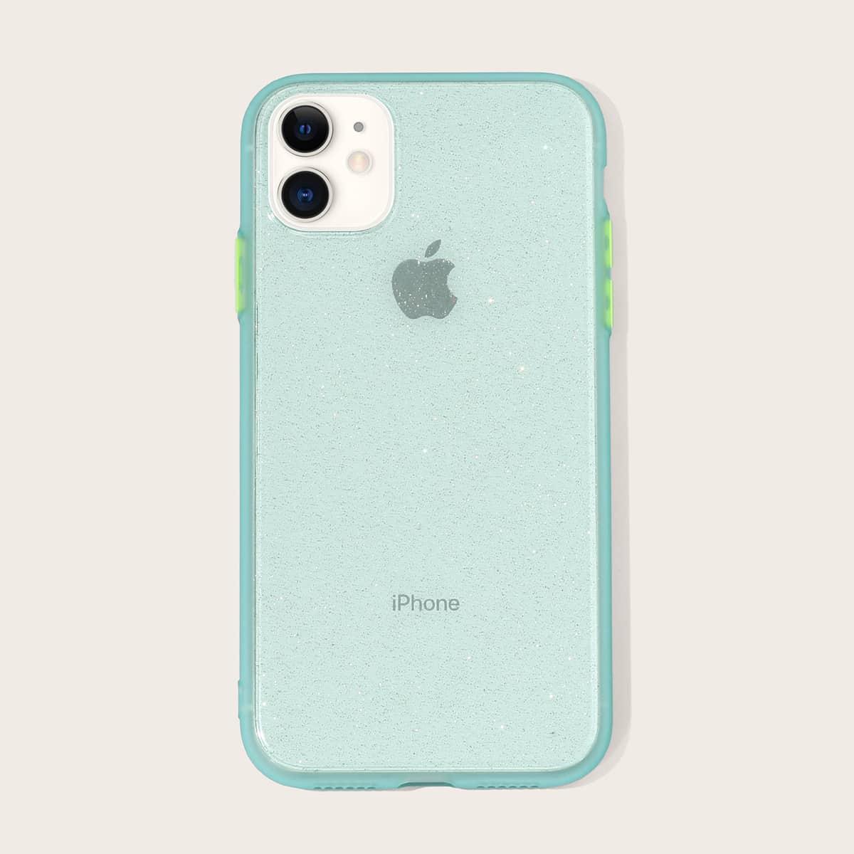 Блестящий прозрачный чехол для iPhone фото
