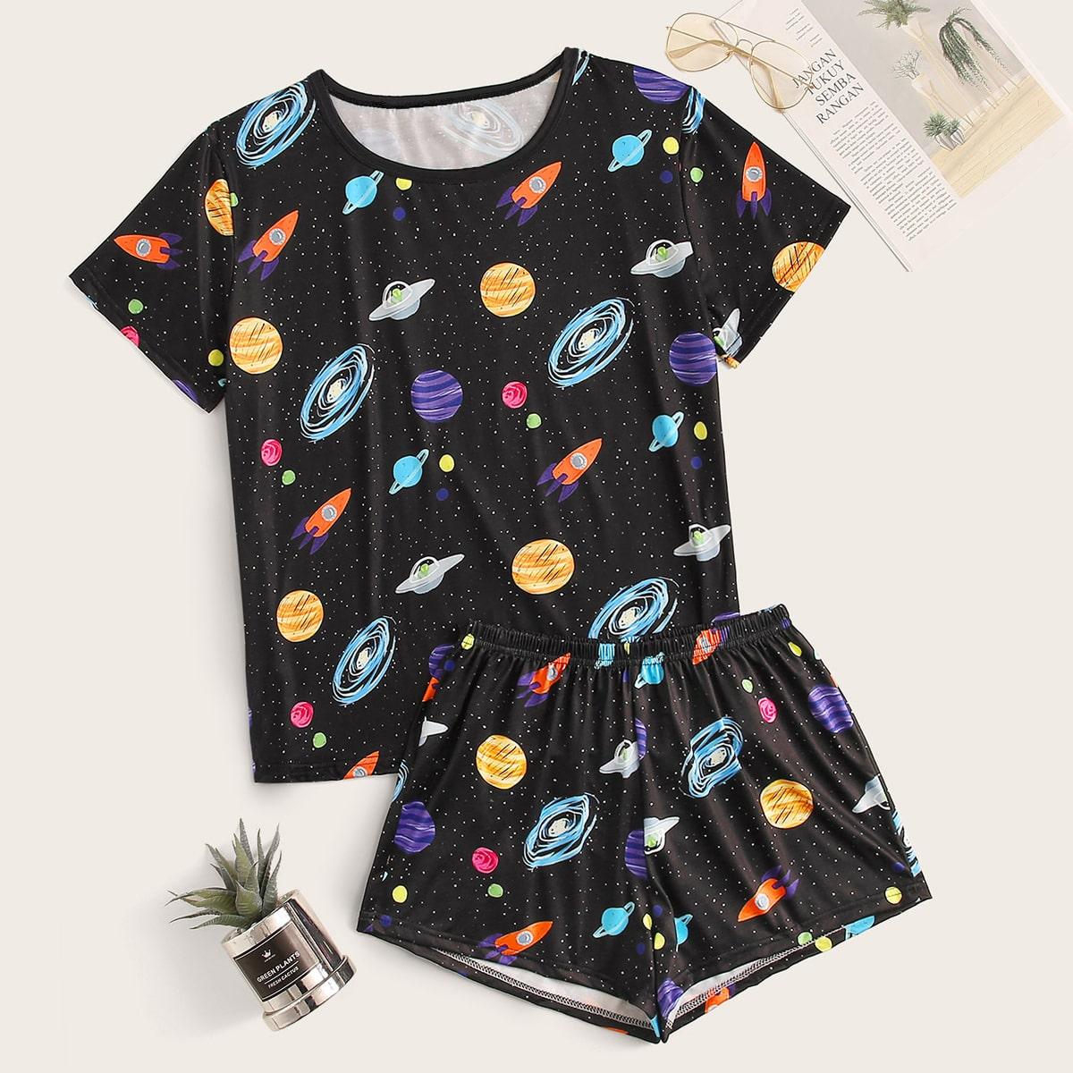 Пижама с графическим принтом от SHEIN