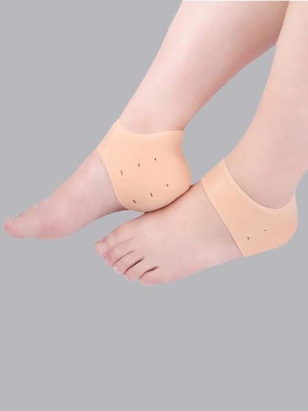 1pair Silicone Heel Anti-crack Protector Pad