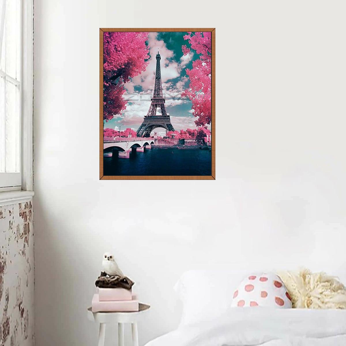 Алмазная живопись с принтом эйфелева башня фото