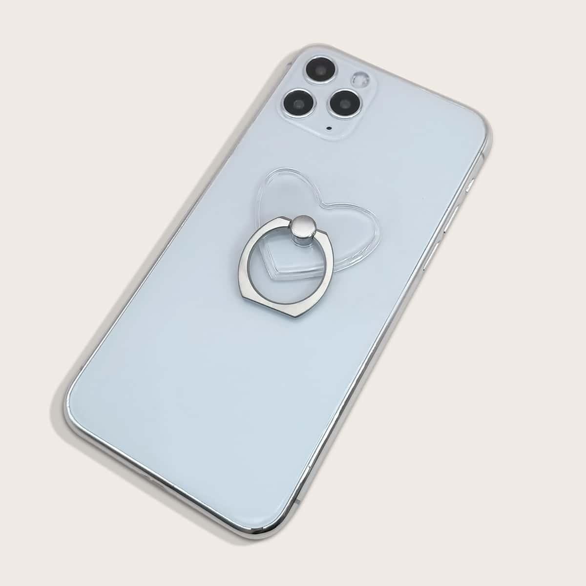 Прозрачный держатель для телефона в форме сердца 1шт фото