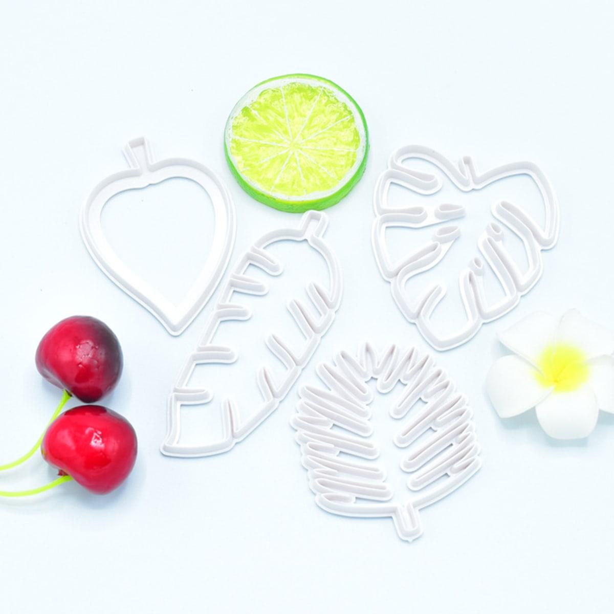 4шт модель для выпечки в форме листьев фото