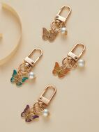 4pcs Butterfly Charm Keychain
