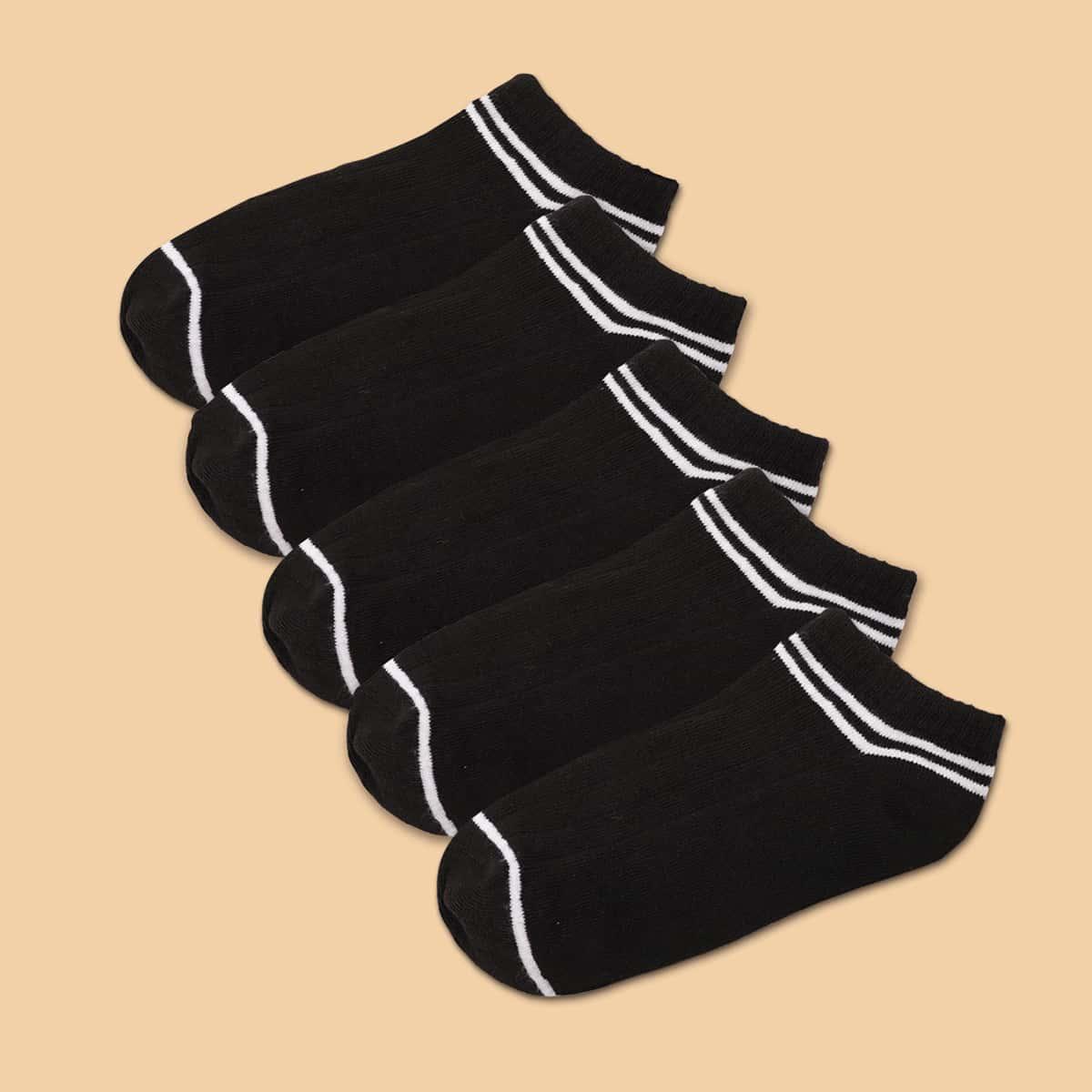 5 пар носки с полосатым узором фото