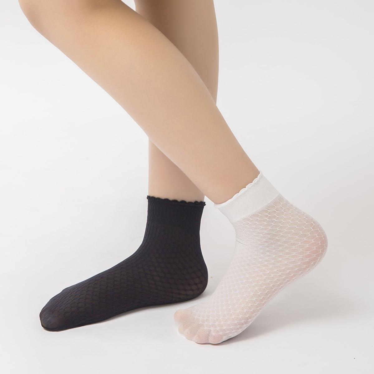 Детские носки с геометрическим узором 2 пары фото