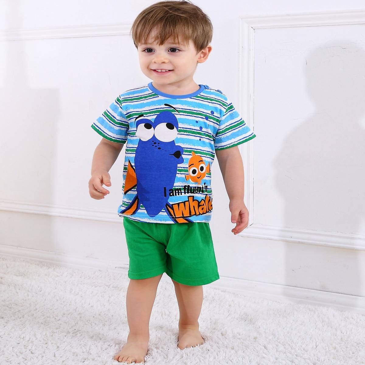 многоцветный Полоска милый Домашняя одежда для мальчиков от SHEIN