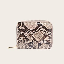 Girls Snakeskin Zip Around Purse (skbag18200623481) photo