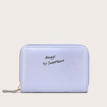 Letter Graphic Zip Around Purse (swbag03200623570) photo