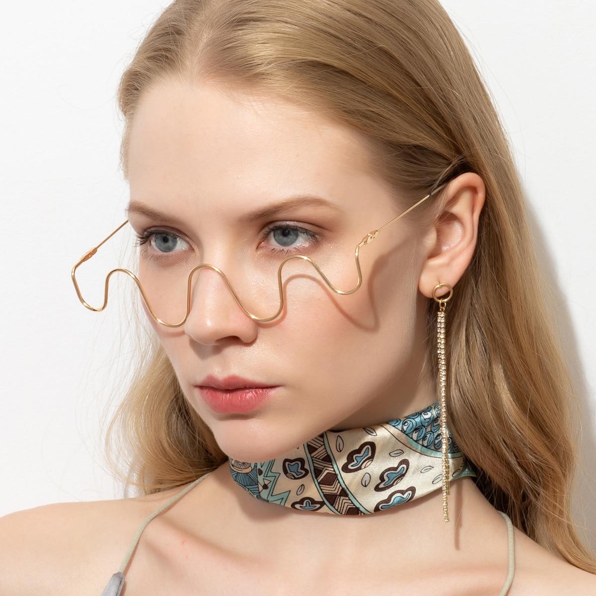Металлические очки