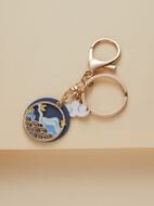 Crane Charm Keychain