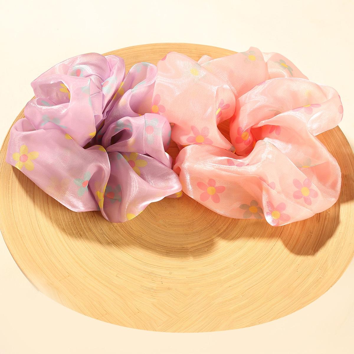 2шт повязка для волос с цветочным узором фото