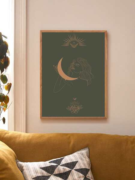 Woman Print Wall Painting Without Frame