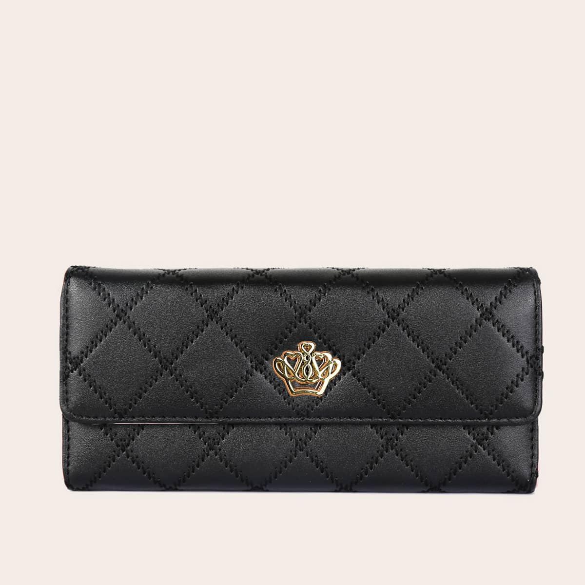 Metal Crown Decor Quilted Purse (swbag18200624757) photo